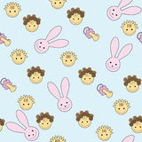 Seamless baby pattern Royalty Free Stock Photography