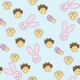 Seamless baby pattern stock illustration