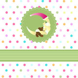 Seamless baby pattern, baby card Stock Photos