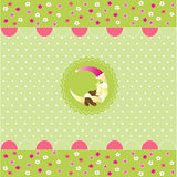 Seamless baby pattern, baby card Royalty Free Stock Photos