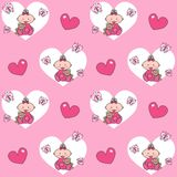 Seamless baby pattern background Royalty Free Stock Photography
