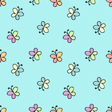 Seamless baby pattern blue Royalty Free Stock Photos