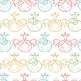Seamless baby pattern with colorful babyish elements royalty free illustration