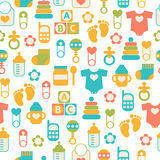 Seamless baby pattern Stock Photo