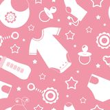 Seamless baby pattern Royalty Free Stock Images