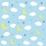 Seamless baby pattern, wallpaper Stock Photo