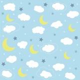 Seamless baby pattern, wallpaper Stock Photo