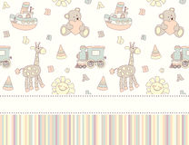 Seamless baby shower greeting card or invitation Royalty Free Stock Photo