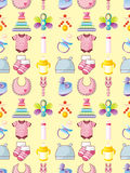 Seamless baby thing pattern Stock Image