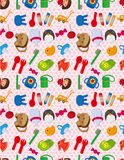 Seamless baby toy pattern Stock Photography