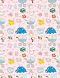 Seamless baby toy pattern Stock Photo