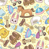 Seamless baby toy pattern Royalty Free Stock Image
