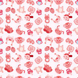 Seamless baby toy pattern Stock Images