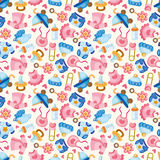 Seamless baby toy pattern Stock Image