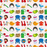 Seamless baby toy pattern Royalty Free Stock Photos