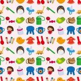 Seamless baby toy pattern. Cartoon vector illustration Royalty Free Stock Photos