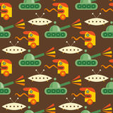 Seamless baby toy pattern Royalty Free Stock Images