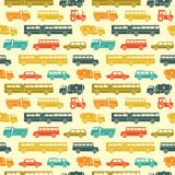 Seamless baby vector background with cars Stock Images