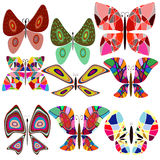 Seamless baccground with butterfly. Set baccground with collors butterfly Stock Photos
