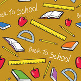 Seamless Back To School Pattern Stock Photo