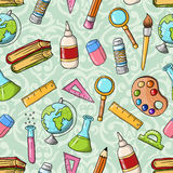 Seamless back to school pattern Stock Photos