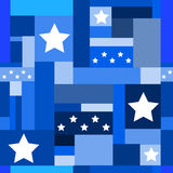 Seamless Background 101. Seamless Background with stars and squares stock illustration