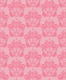 Seamless background. Seamless pink damask floral wallpaper Royalty Free Stock Photos