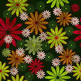 Seamless background. With grunge colorful flowers Stock Photography
