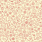 Seamless Background. Seamless Icon Background or Wallpaper stock illustration