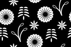 Seamless background. Abstract white seamless pattern on black background - vector illustration. You can use it to fill your own background Royalty Free Stock Photos