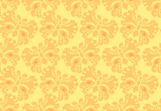 Seamless background. In peachy colors. Ornamental butterfly is an iterative element Royalty Free Stock Photography