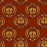 Seamless background. Abstract seamless pattern on dark red background - vector illustration. You can use it to fill your own background Royalty Free Stock Image