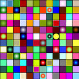 Seamless  background. Collors seamless background with square on black Stock Images