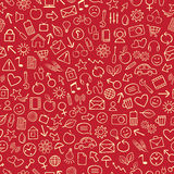 Seamless Background. Red Seamless Background or Wallpaper royalty free illustration