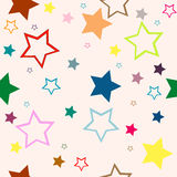 Seamless background. Stars on pink seamless background Royalty Free Stock Photos