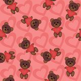 Seamless background. With teddy bears Royalty Free Stock Photo
