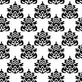 Seamless background. Abstract seamless pattern black on white background - vector illustration. You can use it to fill your own background. Easy editable colors Royalty Free Stock Images