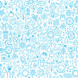 Seamless Background. Vector Illustration of Blue Seamless Background or Wallpaper Stock Photography