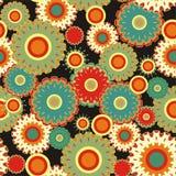 Seamless background. Seamless flourish circle with black background Stock Illustration