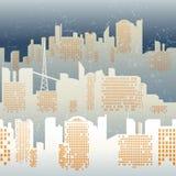 Seamless background. With city skyline stock illustration