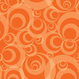 Seamless background. Abstract orange circles - funky seamless vector background Royalty Free Stock Photos