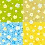 Seamless background. Vector seamless colors background with flowers Stock Illustration