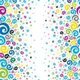 Seamless background. With colorful cute spirals royalty free illustration