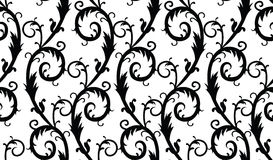 Seamless background. Floral black and white seamless background Royalty Free Stock Photo