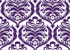 Seamless background. Seamless violet luxury damask background Royalty Free Stock Images