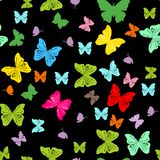 Seamless background with abstract butterflies. Vector illustration stock illustration