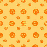 Seamless background with the abstract circles Stock Photo