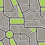 Seamless background of abstract city map Stock Photo