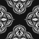 Seamless background. Abstract decorative ornamental texture. Seamless background. Abstract decorative ornament. Black and white texture royalty free illustration
