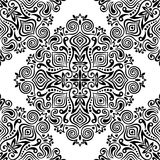 Seamless background with abstract ethnic pattern Royalty Free Stock Image